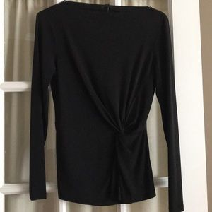 Ann Taylor black, long sleeved top